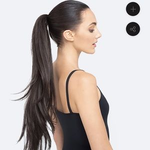 Prettyparty hair ponytail excellent dark brown